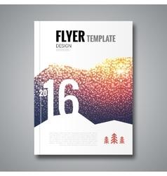 Cover report flyer template snowfall blur design vector