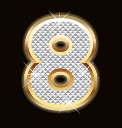 eight bling bling vector image vector image