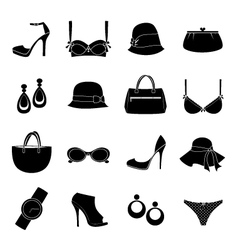 elegant accessories vector image vector image