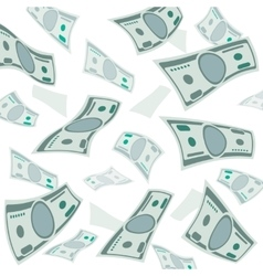 Falling money usa currency banknotes vector image