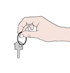 hand holding a key vector image