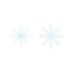 Openwork celebratory Christmas snowflakes in vector image vector image