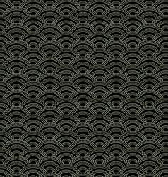 Oriental waves pattern vector image