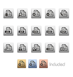 Document Icons 1 vector image vector image
