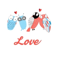 Graphic owl lovers vector image