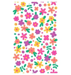 Seamless border with cute flowers vector image vector image