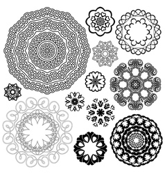 Set of Vintage backgrounds Guilloche ornamental vector image vector image