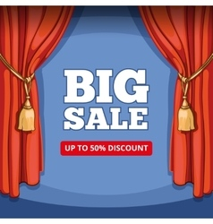 Big sale special offer background for vector image vector image