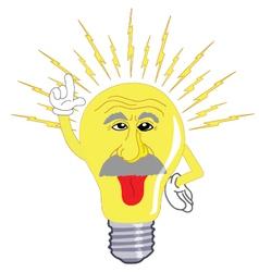 Einstein light bulb vector