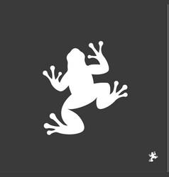 frog sign minimalism modern mark logo vector image