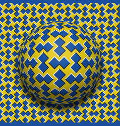 patterned ball rolling along the same surface vector image vector image