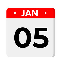 05 january date icon vector