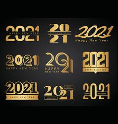 2021 logo graphic design calendar lettering vector image