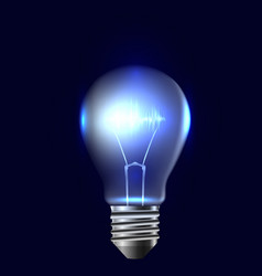 A realistic bulb with pulse vector
