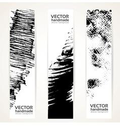 Abstrac black ink banner set vector