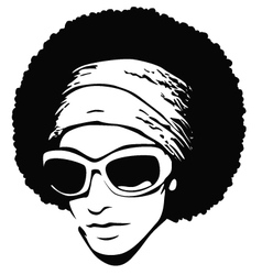 afro hair pop art vector image