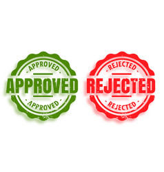 Approved and rejected rubber stamps set two vector