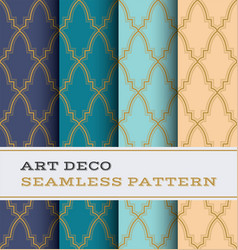 art deco seamless pattern 36 vector image