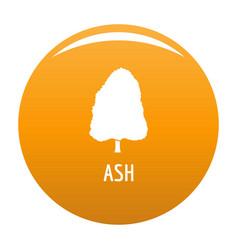 ash tree icon orange vector image