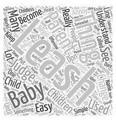 Baby leash Word Cloud Concept vector