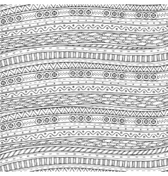 Background in with doodles ethnic pattern vector
