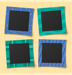 Bacollage photo family portraits frames vector