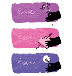 Banners of valentine day vector