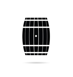Barrel in black vector