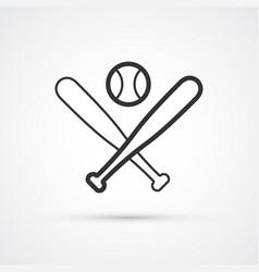 Baseball sport icon bats and ball eps10 vector