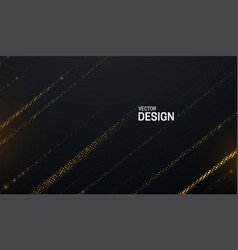 Black cover with shimmering striped pattern vector