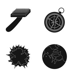 Brush for an animal compass and other web icon in vector