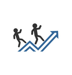 business people success finance graph office vect vector image