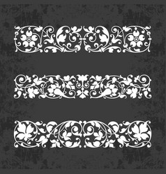 Calligraphic ornaments for design on chalkboard vector
