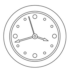 clock face icon outline style vector image