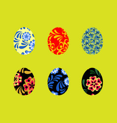 Colorful happy easter greeting with vector