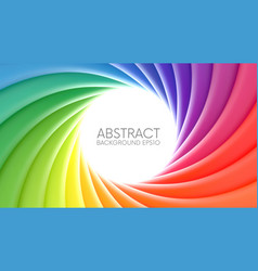 colorful rainbow swirl background vector image