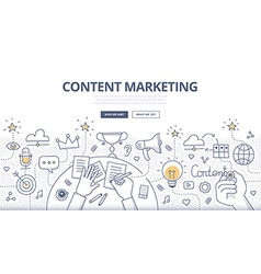 Content Marketing Doodle Concept vector