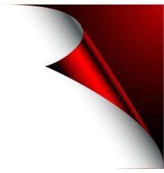 corner paper vector image