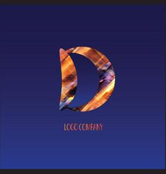 corporate logo letter d vector image