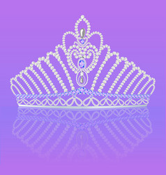 Crown diadem for women wedding on bright vector