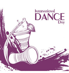 Dance day tribal belly dance accessories vector