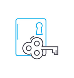 door lock linear icon concept door lock line vector image