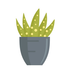 Dotted succulent icon flat style vector