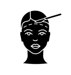 facelift surgery glyph icon vector image