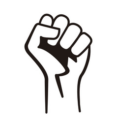 fist male hand raised vector image