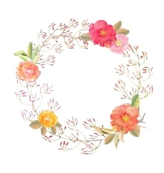 Flowers wreath Elegant floral collection vector