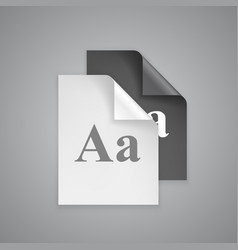 Font choices on paper vector