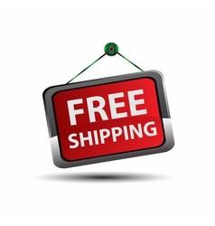 Free Shipping icon Button vector image