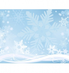 frosty snowflakes vector image