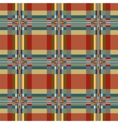 Geometric textile seamless pattern vector image